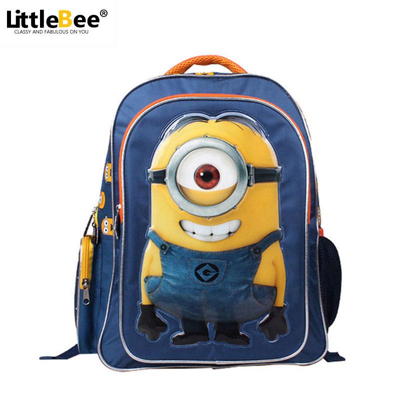 2016 Minion Backpack Kids School Bags for Boys Schoolbag Backpacks For Children mochila escolar infantil sac