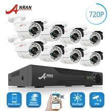 ANRAN 8CH 1800N HD AHD DVR комплект 8 шт. 1800TVL 720 P Водонепроницаемый Открытый 24 ИК-День Ночь видео CCTV камера охранных Системы