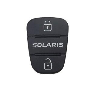 Image 5 - OkeyTech 3 לחצן Flip מתקפל מרחוק רכב מפתח מעטפת מקרה גומי רפידות עבור יונדאי Picanto Solaris RIO Sportage Elantra Kia מפתח