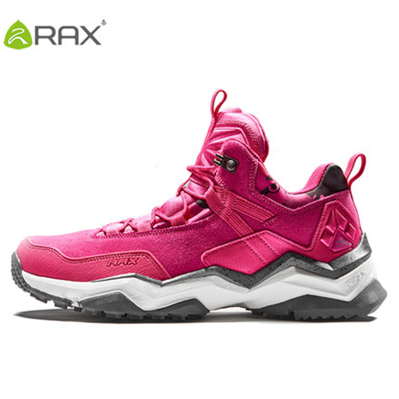 RAX2017 autumn and winter anti-skid outdoor shoes warm walking shoes non-slip climbing shoes anti-splashing suede couple models rax suede leather casual shoes men warm autumn and winter outdoor shoes slip cushioning wear casual shoes size 39 44 b2039
