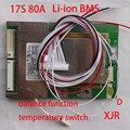 17 S 80A версия D lipo литий-Полимерный БМС/PCM/ПЕЧАТНАЯ ПЛАТА защиты аккумулятора доска для 17 Пакетов 18650 литий-ионная Батарея ж/Баланс