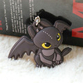 Anime Cartoon How To Train Your Dragon Toothless Night Fury PVC Keychain  Pedant Toy 2 Sides