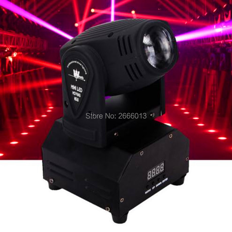 Mini LED 10W Spot Beam Moving Head Light RGBW 4IN1 DMX512 LED Stage Lights Stroboscope For Home Entertainment Professional Stage