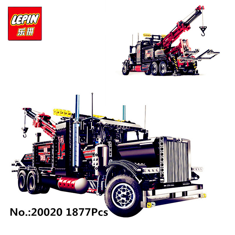 IN STOCK Lepin 20020 1877PCS Technic Ultimate Series The Mechanical American Style Heavy Container Trucks Building Blcoks lepin 20076 technic series the mack big