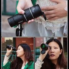 Panda 40×60 монокуляр телескоп день & ночного видения hd телескоп карманный Мини Широкоугольный Зум-FMC Зеленый Фильм Оптический Bak4 охота