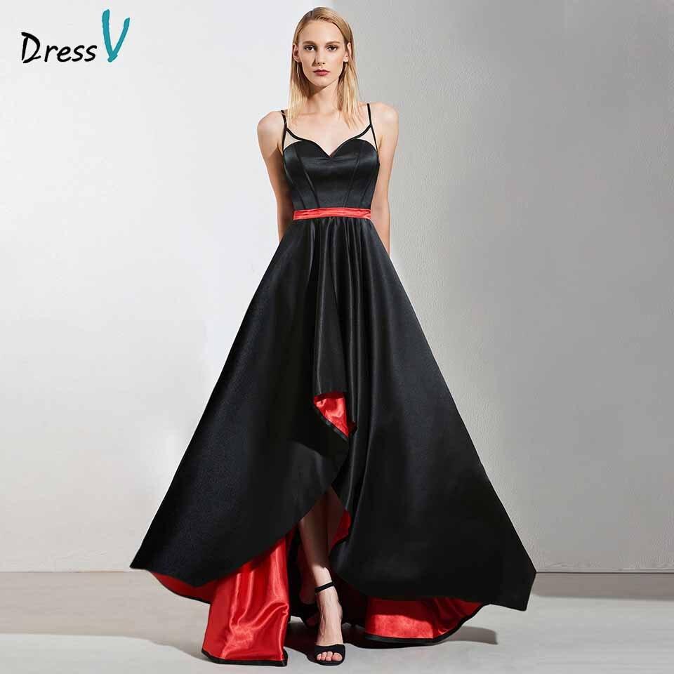 Dressv Elegant Spaghetti Straps A Line Sleeveless Evening Dress Zipper Up Wedding Party Formal Dress Halloween Evening Dresses