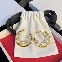 Queen Lotus 2019 Fashion Jewelry Luxury High Quality Brand Pearl Drop Earrings for Women For Gift
