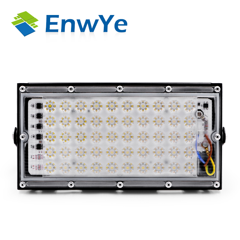 EnwYe 50W perfect power LED Flood Light Floodlight LED street Lamp 220V 240V waterproof Landscape Lighting IP65 led spotlight 3