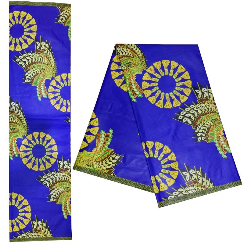 2019 Latest elegant design 100 cotton ankara real wax fabric 6yards pcs best quality african wax fabric for church dress 1306 5 in Fabric from Home Garden
