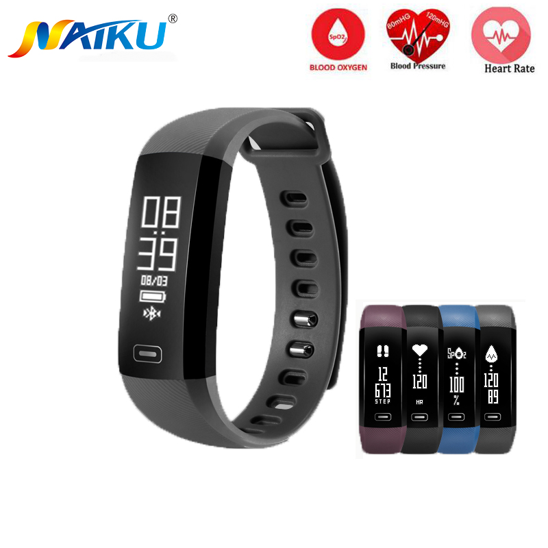 Smart Band NAIKU M2 Heartrate Blood Pressure Oxygen Oximeter Sport Bracelet Clock Watch Inteligente Pulso For