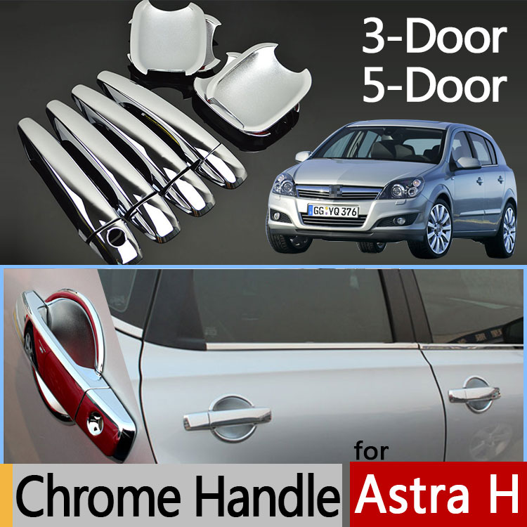 For Opel Holden Vauxhall Astra H Luxurious Chrome Door Handle 5-Door 3-Door Wagon Car Covers Accessories Stickers Car Styling 2016 mini clubman one coopers side door power window switch center console panel covers accessories car stickers for f54 6 door page 4