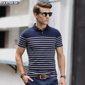 polo shirt homme Short Sleeve Polos Men Striped Oversized Fashion Camisa Polo Cotton Button Collar brands camiseta masculina fit