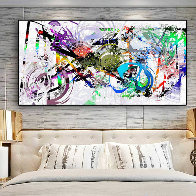 Abstract Watercolor Oil Painting on Canvas Scandinavian Posters and Prints Cuadros On the Wall Pop Art Pictures For Living Room