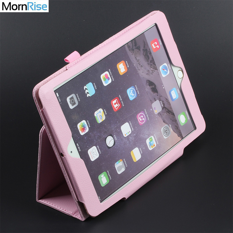 Folde Folio Smart Cover til iPad luft 2 1 Etui til iPad 6th Generation Cases Magnetisk PU Læder Tablet Stand Beskyttende Shell