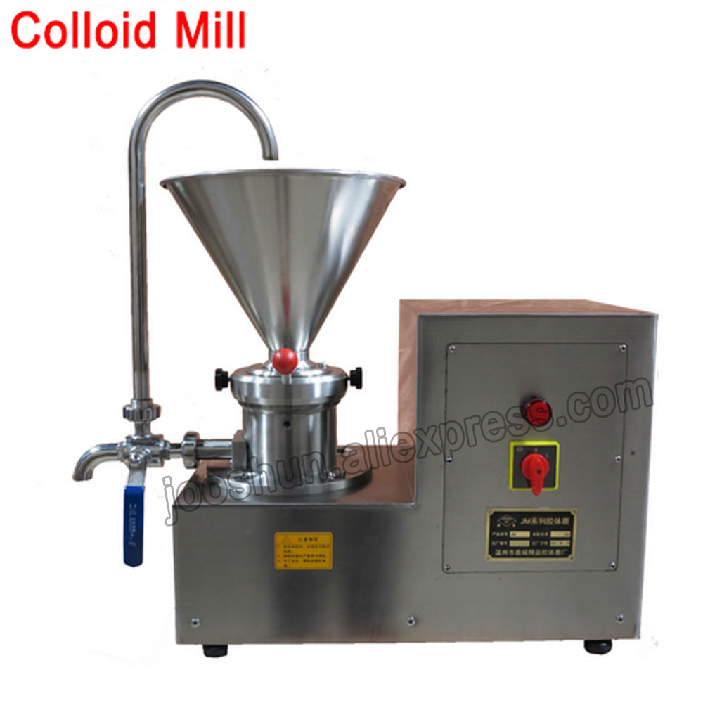 1PC Stainless Steel Colloid Mill Refiners Sesame Sauce Peanut Butter Chocolate Pepper Grinder Wet or Dry Grinding Machine 2.2KW food pharmaceutical industry stainless steel seeds peanut butter sesame paste chilli sauce colloid milling machine
