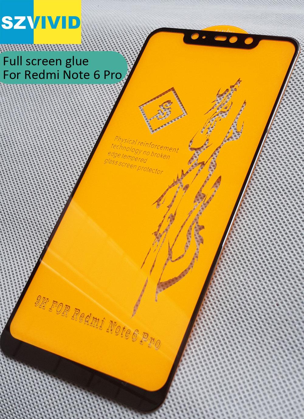 Full Screen Panel Kleber Gehärtetem Glas Für Xiaomi Redmi Hinweis 6 Pro 2.5D Gebogene abgerundete oleophobe