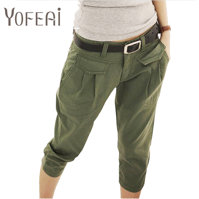 YOFEAI New 2017 Spring Summer Women's Pant Casual Cropped ...