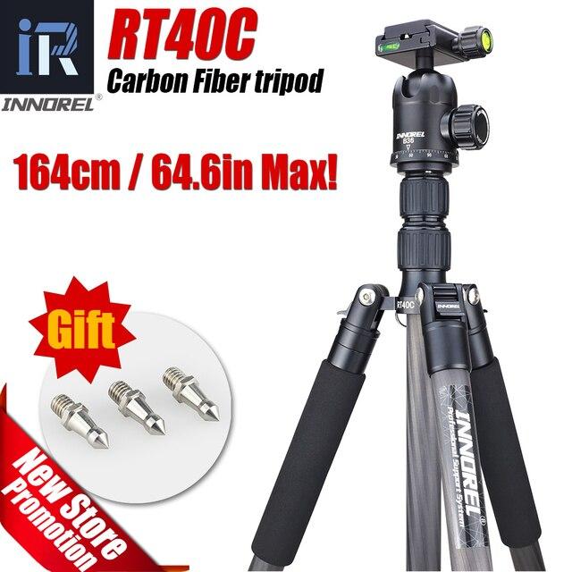 RT40C Профессиональный Углеродного Волокна штатив для цифровой камеры dslr легкий вес стенд высокое качество рубец для Gopro tripode 164 см макс