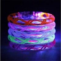 80pcs/lot Led Bracelet Flashing Acrylic Electronic party Glow Bracelets Toys Bracelet Night Glowing For Bar Halloween Christmas