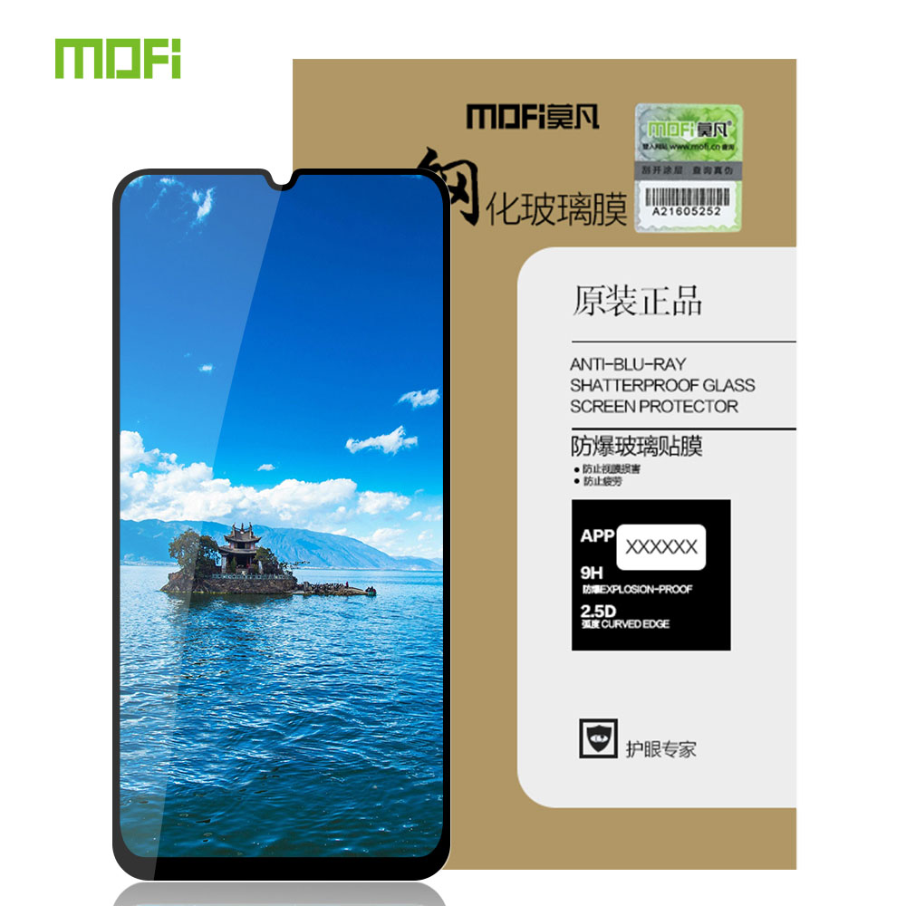 Für Samsung Galaxy A50 Glas Gehärtetem Glas MOFi Für Samsung Galaxy A70 A40 A60 A20 M20 A80 S10 Lite Bildschirm protector Volle