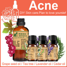 Free Shopping 100% Pure Plant Essential Oil Base Oil Grapeseed / Tea Tree / Lavender / Cedar Oil Massage For Dry Skin Care