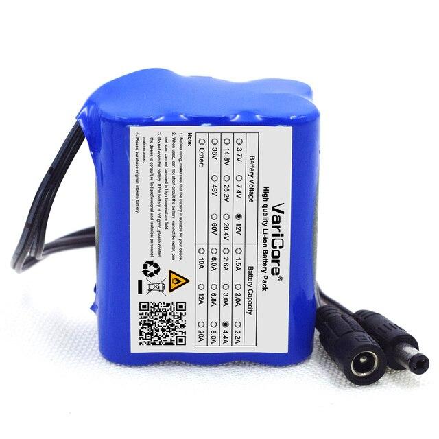 varicore 4400mah dc plug super rechargeable lithium ion battery 12v rh aliexpress com