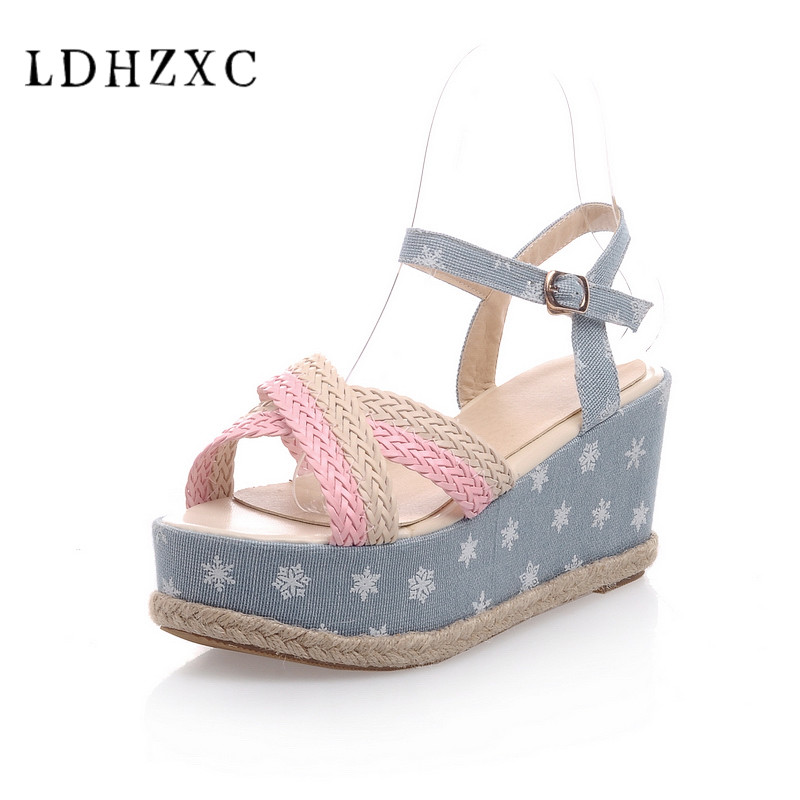 LDHZXC 2018 new summer women wedges sandals Multicolor sweet party shoes  comfortable wedding shoes big size 34 43-in High Heels from Shoes on  Aliexpress.com ... 89e3e6ed3a1c