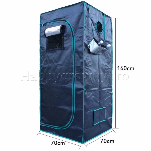 1680D LED Hydroponic Grow Tent 2' 3'' x2' 3'' x5' 3''(70x70x160cm) , Hydroponic system grow room greenhouse plants non-toxic hut