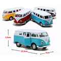 New Style Antique Miniature Cars Alloy Bus Toys for Children's Birthday Present, 4 Color Cute Car Model Kids Toys
