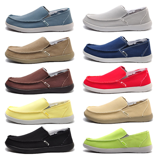Canvas Shoes Men's Sneakers Breathable Ultra-light Loafers Slip-On Mens Casual Shoes  4