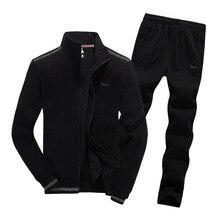 Men Tracksuit Sporting Suit Male Spring Autumn Jacket Sweatshirt+pantsRunning Leisure Fitness Set Sportswear L-8XL  Large Size
