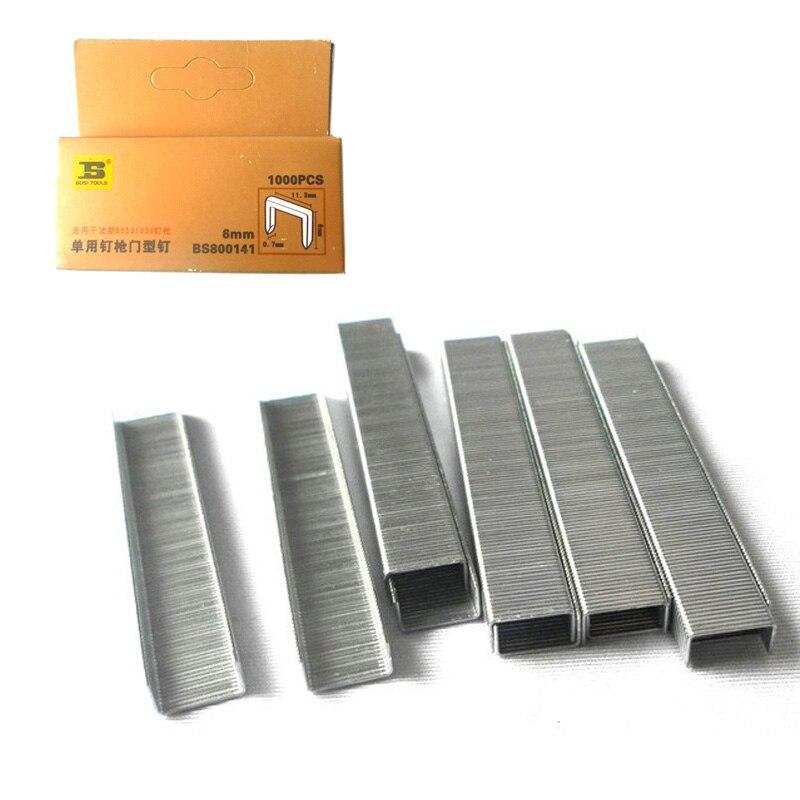 1000pc/pack Standard Chisel Point Staples 6/25inch/6mm leg long цены