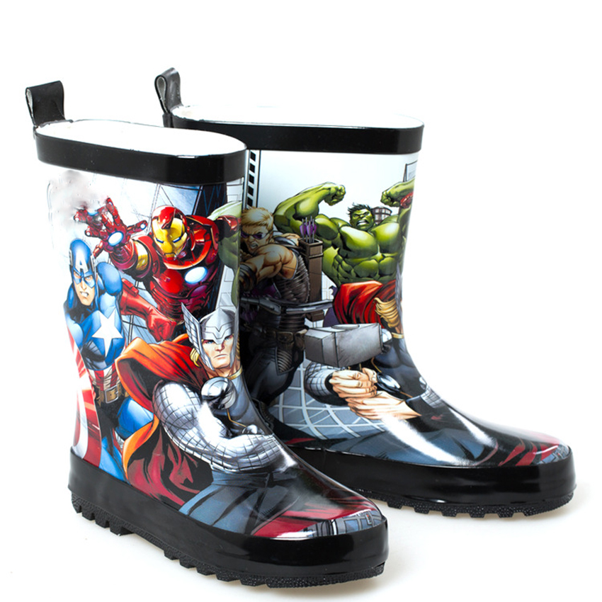 New Fashion Baby Boys and Girls Cartoon Rain Boots Kids Rubber Non-slip Shoes Autumn Spring Children Waterproof Shoes hxrzyz spring and autumn hot new fashion women rain boots ladies slip resistant cute cartoon shoes women waterproof rubber boots