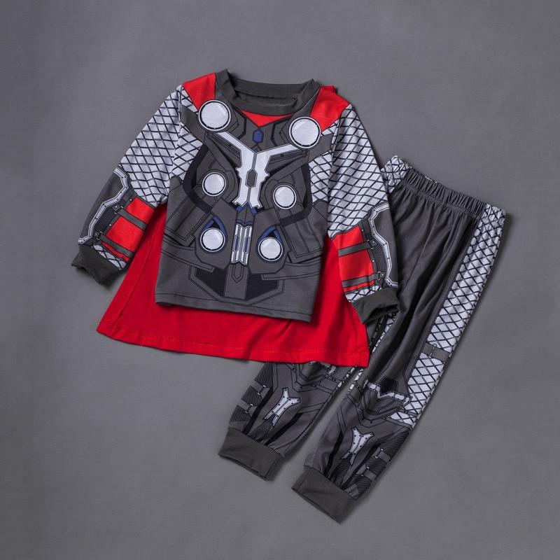 36103a0dc6438 Kids Cartoon Superhero Pajamas Homewear Onesies Star Wars Captain America  Spiderman Iron Man Thor Pajamas Marvel Avengers