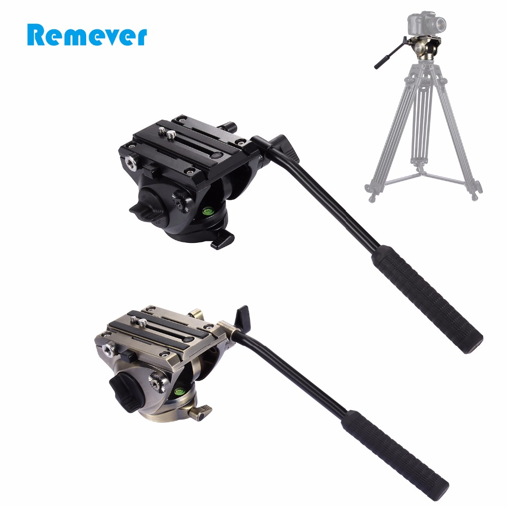 Professional Portable Tripod Fluid Head with Quick Release Plate for DSLR & SLR Cameras Camcorder for Tripod Video Film Shoot