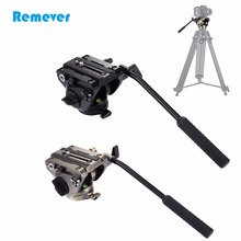 Professional Tripod Fluid Head with Quick Release Sliding Plate for DSLR & SLR Cameras Camcorder for Tripod Video Film Shoot puluz heavy duty video camera tripod action fluid drag head with sliding plate for dslr