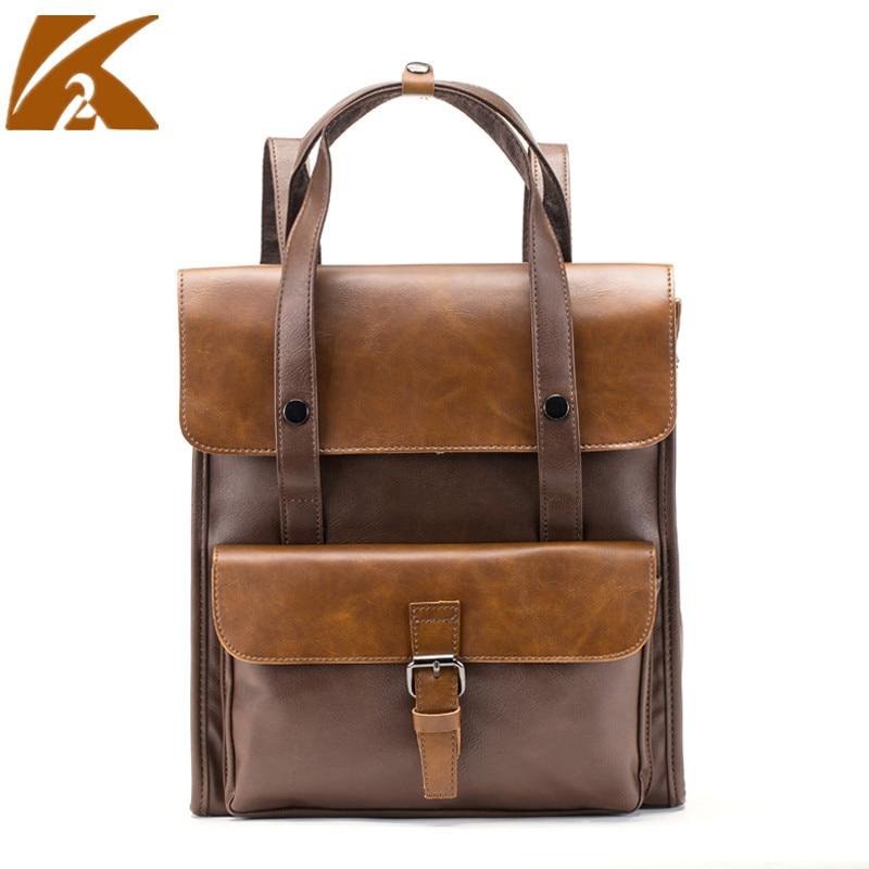 2018 Multi-functional Backpack Men Genuine Leather Backpacks Students School Bags Casual Business Shoulder Bags Travel Bag Pack