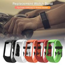цена на New Silicone Replacement Strap Black Buckle Wristband Watch Band For Polar A360 A370 GPS Smart Watch Smart Bracelet Wholesale