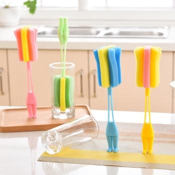 Standable gąbka szczotka do butelek do karmienia dziecka butelka na mleko kubek środek do czyszczenia szkła do mycia narzędzia do czyszczenia kuchni tanie i dobre opinie Butelka dla dziecka 1159 Ręcznie about24cm 9 45 Pojedyncze załadowany 13-18 M 2-3Y 4-6 M 7-9 M 19-24 M 10-12 M 0-3 M