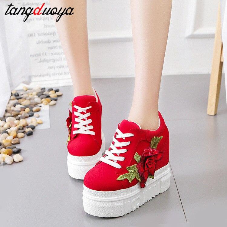 flat platform sneakers women canvas