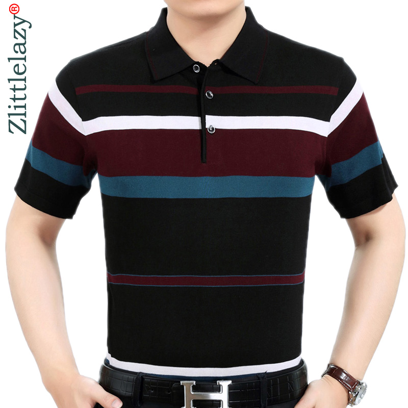 Summer   polo   shirt men short sleeve   polos   shirts striped slim fit mens pol clothes dress bodybuilding streetwear poloshirt 6371