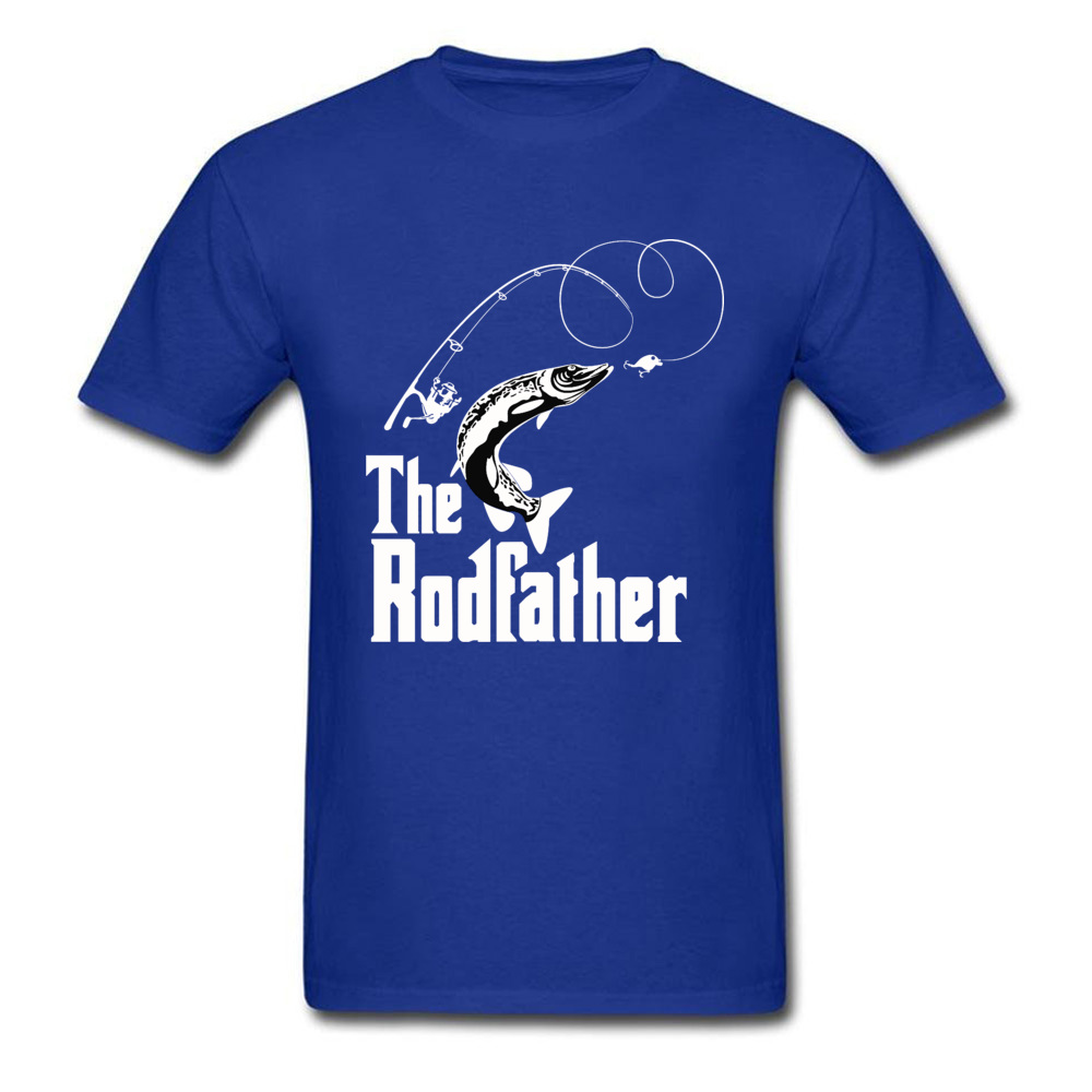 The-Rodfather Crewneck T-Shirt Lovers Day Tops Tees Short Sleeve Company 100% Cotton Design Tee-Shirts cosie Young The-Rodfather blue