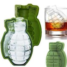 LEMAIJIAJU Grenade Shape Silicone Ice Cube Whiskey Cocktail Ice Ball Mold Maker Tray Halloween Party Spooky Fun Bar Tool Bar #15