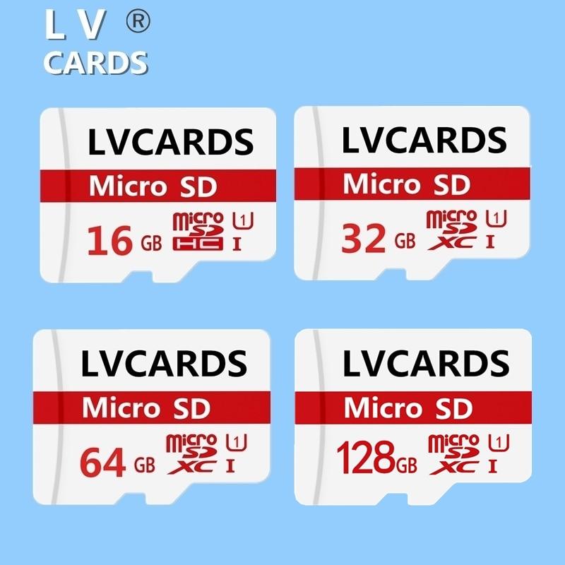 LV-CARDS H2testw capacité réelle Micro carte sd 16GB 32GB 64GB 128gb USH-1 Class10 dans les cartes mémoire Mini microsd & TF carte A2-8