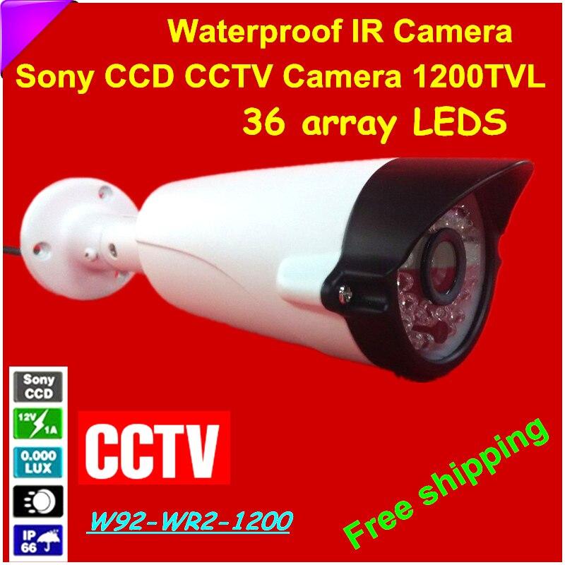 Новое поступление! 1200tvl CCTV Камера с 1/3 Sony CCD Водонепроницаемый используется для наружного безопасности Камеры Скрытого видеонаблюдения допо...