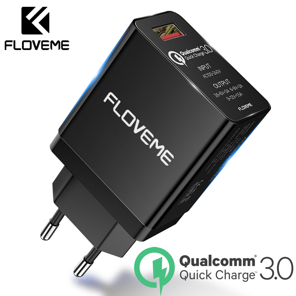 FLOVEME USB Phone Charger For iPhone Quick Charge 3.0 Fast Wall Charger