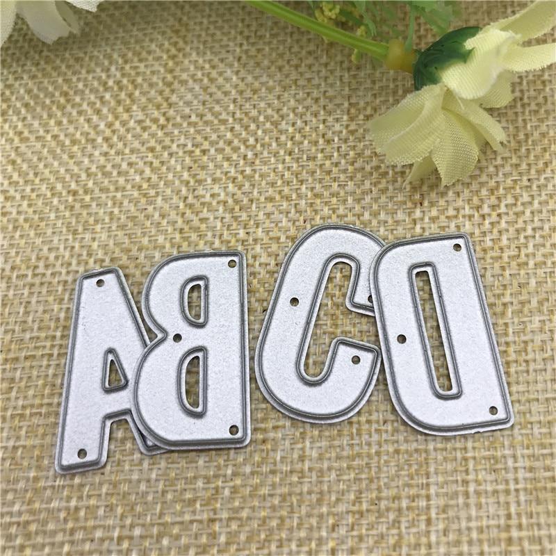 Metal Cutting Dies Scrapbooking Cut Embossing DIY Paper Cards Letter Stencil