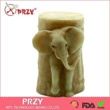 Molde de vela de silicone chocolate do bolo para o casamento 3d elefante em forma de sabão artesanal molde