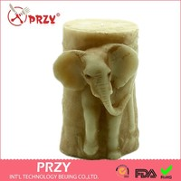 Silicon Candle Mould Chocolate From Of Cake For Wedding 3D Elephant Shaped Handmade Soap Mold