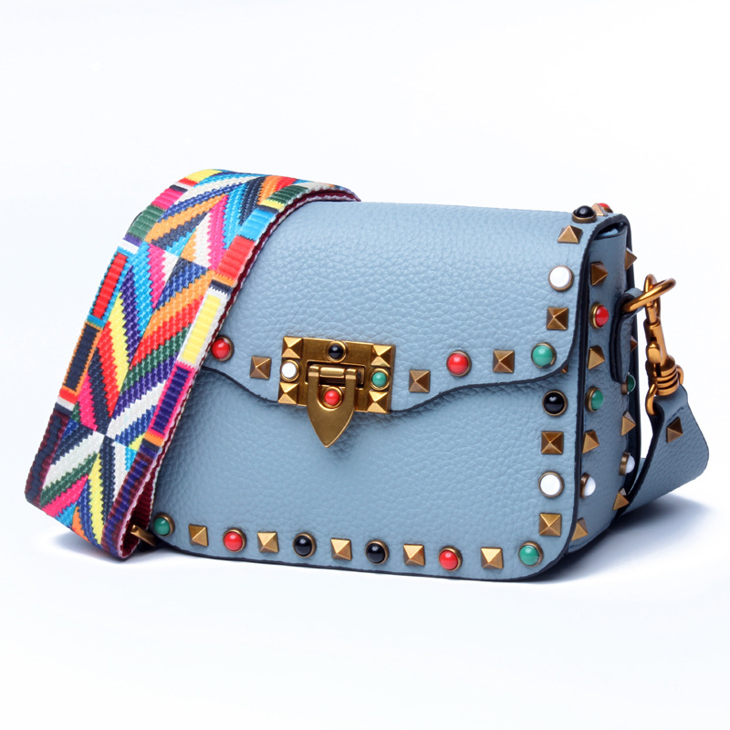 2019 New Fashion Genuine Leather Ladies Multi-Functional Sweet Small Square Bag Young Trend Girl Color Decorative Shoulder Bag2019 New Fashion Genuine Leather Ladies Multi-Functional Sweet Small Square Bag Young Trend Girl Color Decorative Shoulder Bag